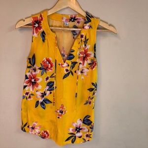 🌸 LAST CHANCE Yellow Floral Tank Top Blouse 🌸